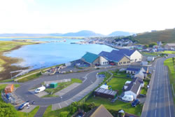 The view and location of Asgard in Stromness, Orkney
